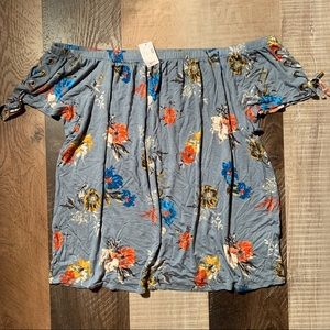 Maurices Off the Shoulder Floral Top Size XL